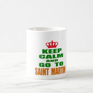 Keep calm and go to Saint Martin. Coffee Mugs