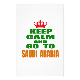 Keep calm and go to Saudi Arabia. Customized Stationery