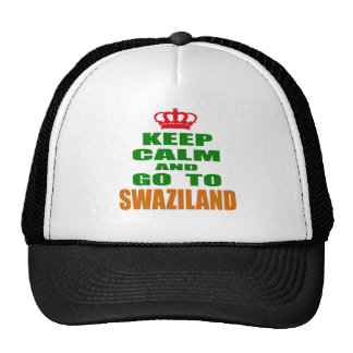 Keep calm and go to Swaziland. Trucker Hat