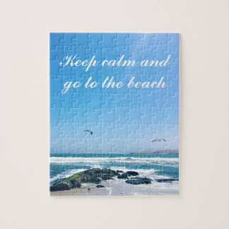 Keep calm and go to the beach Photo Puzzle