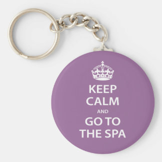 Keep Calm and Go To the Spa Basic Round Button Key Ring