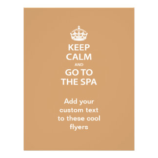 Keep Calm and Go To the Spa Flyer