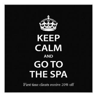 Keep Calm and Go To the Spa Personalized Invite