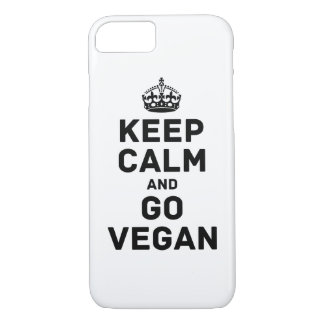 Keep calm and go vegan iPhone 8/7 case