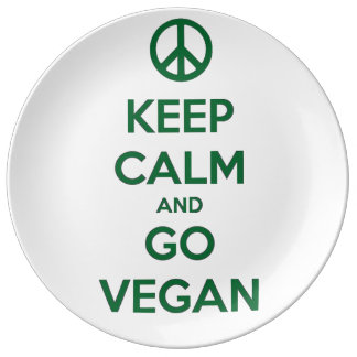 Keep Calm and GO VEGAN Plate