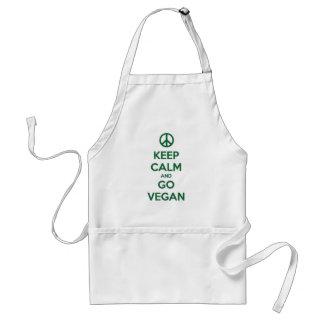 Keep Calm and GO VEGAN Standard Apron