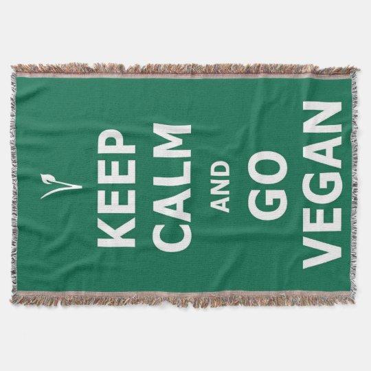 Keep Calm and Go Vegan throw blanket