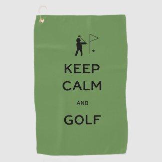 Keep Calm and Golf Golf Towel