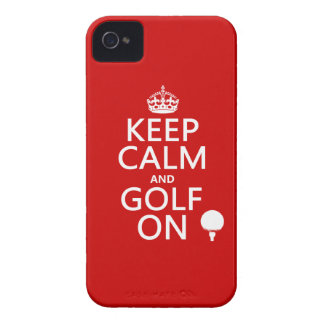 Keep Calm and Golf On - available in all colors iPhone 4 Case-Mate Case