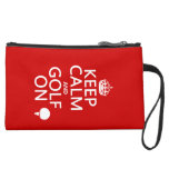 Keep Calm and Golf On - available in all colours Wristlet Purse