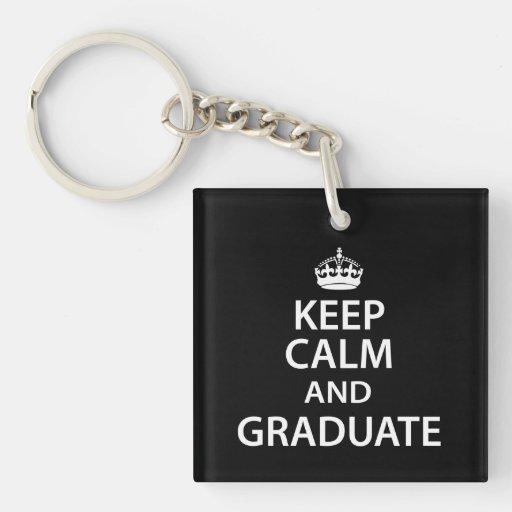 Keep Calm and Graduate Funny Graduation Acrylic Keychains