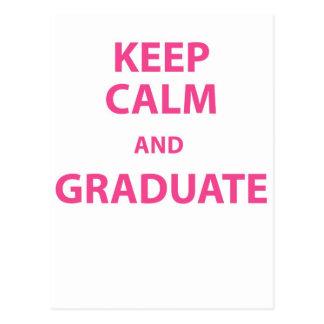 Keep Calm and Graduate Postcard