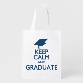 Keep Calm and Graduate Reusable Grocery Bag