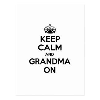 Keep Calm and Grandma On Postcards