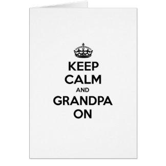 Keep Calm and Grandpa On Card