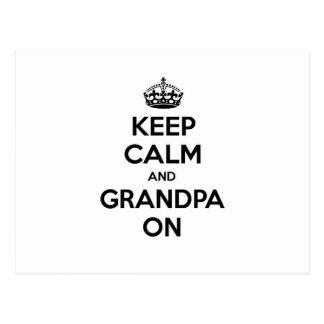 Keep Calm and Grandpa On Postcard