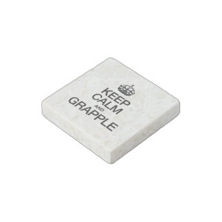 KEEP CALM AND GRAPPLE STONE MAGNET