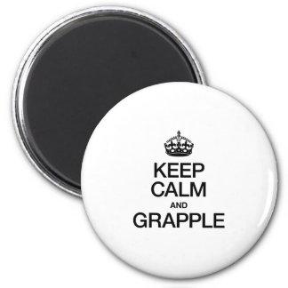 KEEP CALM AND GRAPPLE FRIDGE MAGNET