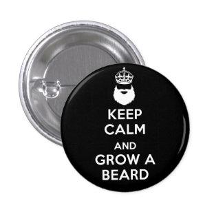 Keep Calm and Grow A Beard 3 Cm Round Badge
