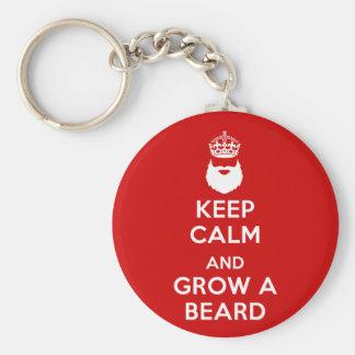 Keep Calm and Grow A Beard Key Ring