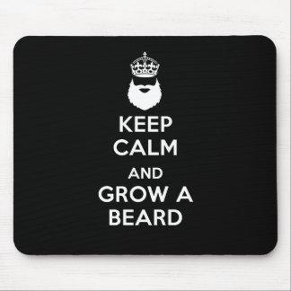 Keep Calm and Grow A Beard Mouse Mat