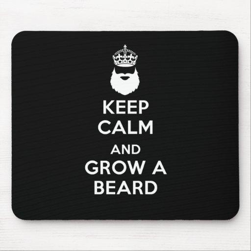 Keep Calm and Grow A Beard Mouse Mats