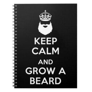 Keep Calm and Grow A Beard Notebook