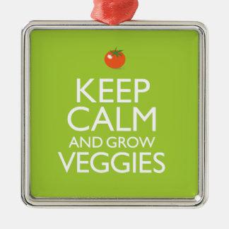 Keep Calm and Grow Veggies Christmas Ornament