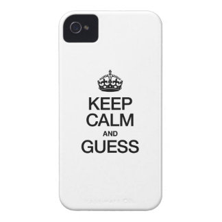 KEEP CALM AND GUESS iPhone 4 CASES