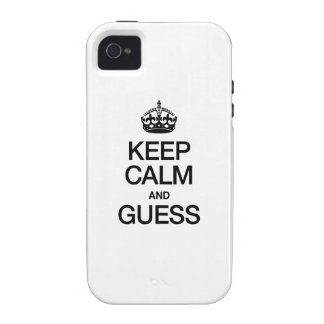 KEEP CALM AND GUESS VIBE iPhone 4 CASE