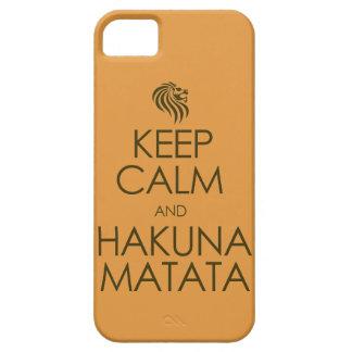 Keep Calm and Hakuna Matata iPhone 5 Cases