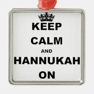 KEEP CALM AND HANNUKAH ON CHRISTMAS ORNAMENT
