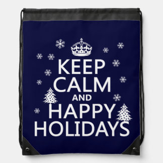 Keep Calm and Happy Holidays Backpack