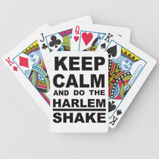 KEEP CALM AND HARLEM SHAKE BICYCLE PLAYING CARDS