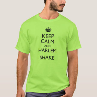 keep calm and harlem shake design t shirt