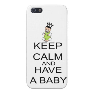 Keep Calm And Have A Baby Cover For iPhone 5/5S