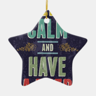 Keep Calm And Have A Beer Ceramic Star Decoration