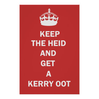 Keep Calm and Have a Carry Out Poster Print