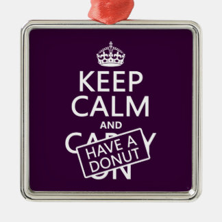 Keep Calm and Have a Donut Christmas Ornament