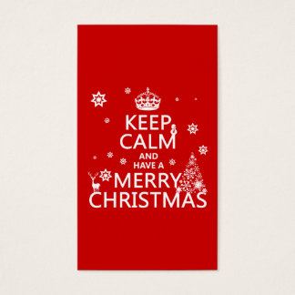 Keep Calm and Have A Merry Christmas (change color