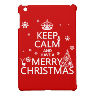 Keep Calm and Have a Merry Christmas iPad Mini Cover