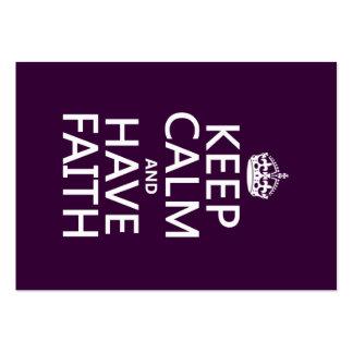 Keep Calm and Have Faith customizable colors Business Card
