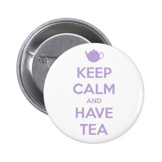 Keep Calm and Have Tea Lavender 6 Cm Round Badge
