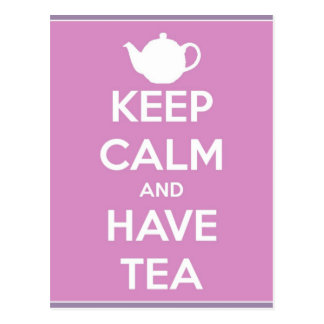 Keep Calm and Have Tea Postcard