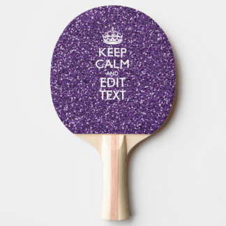 Keep Calm and Have Your Text Glamour Mauve Ping Pong Paddle