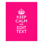 KEEP CALM AND Have Your Text on PINK 11.5 Cm X 14 Cm Flyer