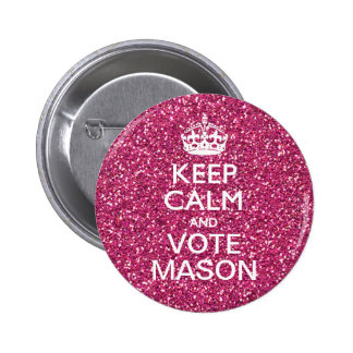 Keep Calm and Have Your Text on Pink Rose 6 Cm Round Badge