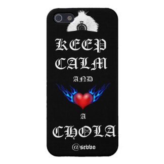 KEEP CALM AND HEART A CHOLA (iPhone 5/5s case) iPhone 5/5S Case
