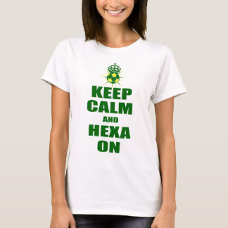 Keep Calm and Hexa On Brasil Soccer T-Shirt