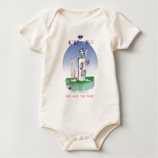 keep calm and hide the fear, tony fernandes baby bodysuit